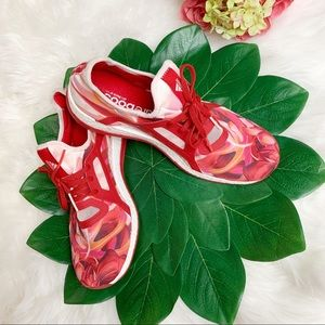 ADIDAS PURE BOOST RARE FLORAL PRINT SNEAKERS